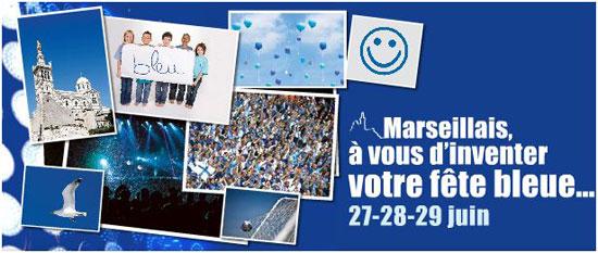 Le fête bleue à Marseille