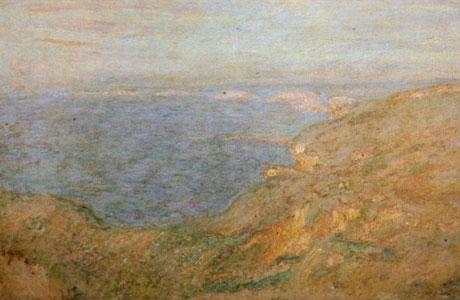 Le tableau Falaise près de dieppe de Claude monnet