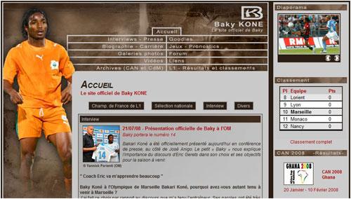 Site Internet de Baky Koné