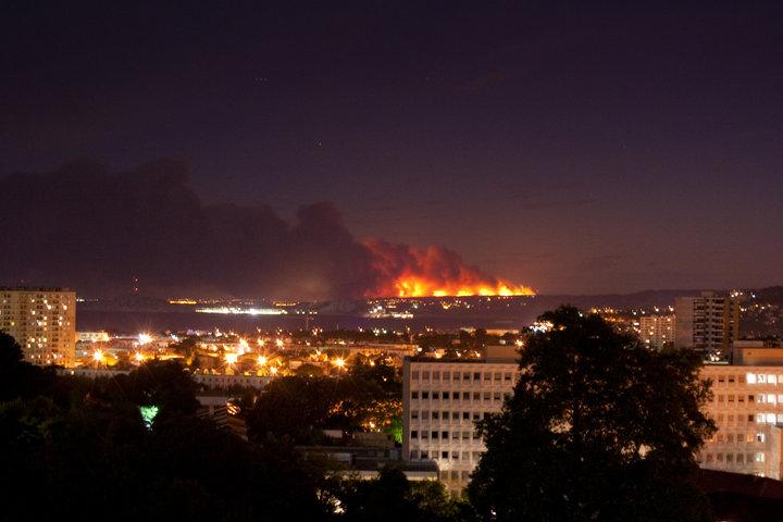 incendie hier soir plaine du var