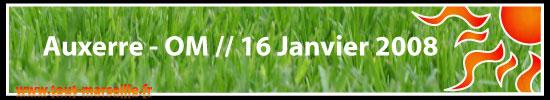 Résumé du 8 ieme de fianle dela coupe de la Ligue Auxerre OM