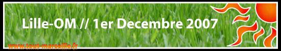 Lille OM 1 décembre 2007