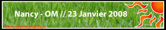 Nancy OM Ligue 1 23 janvier 2007