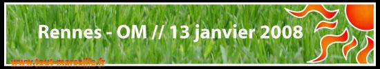 Rennes Om le 13 janvier 2008
