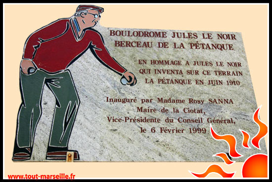 Plaque petanque 1910