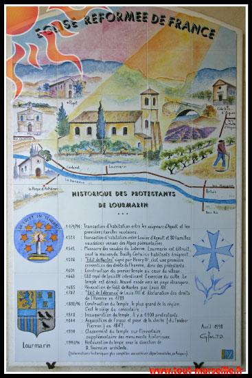 Histoire du Temple de Lourmarin